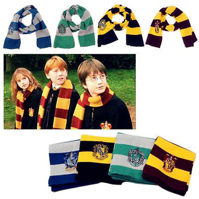 17CM*150CM New Fashion 4 Color College scarf Harry Potter Gryffindor Series scarf With Badge Personality Cosplay Knit Scarves