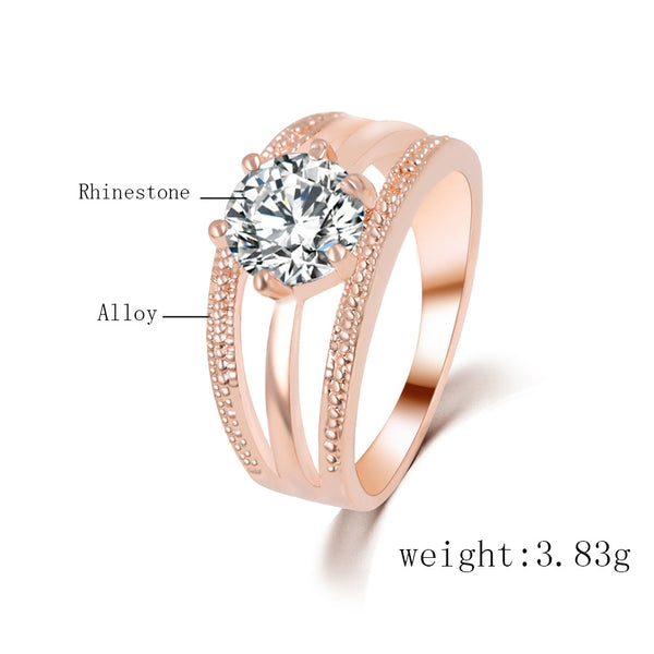 17km Classic Zinc Alloy Engagement Wedding Bands Women