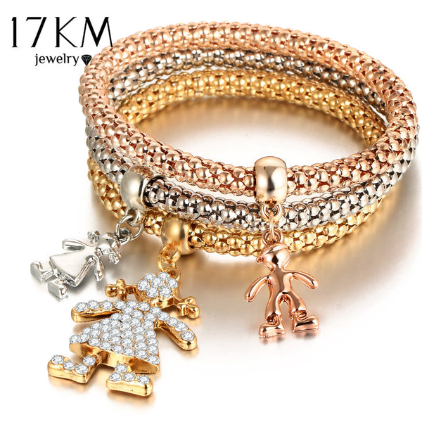 17km Trendy Crystal Zinc Alloy Link Chain Women