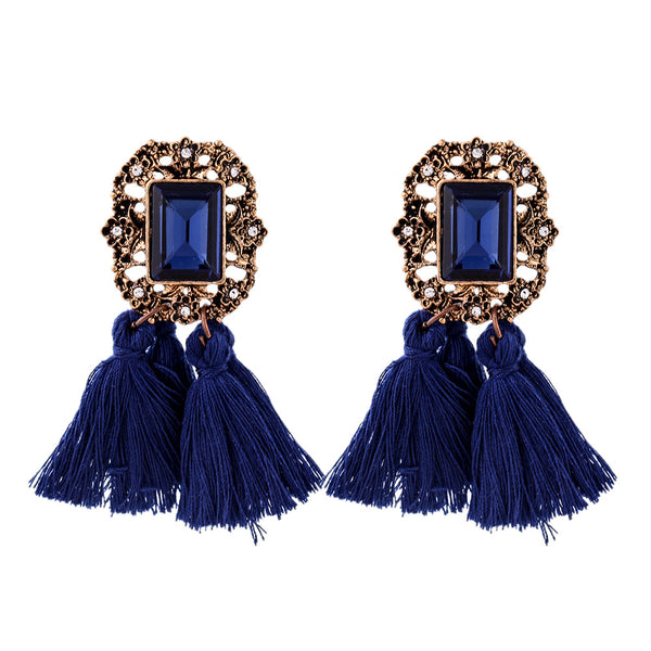 17km Vintage Zinc Alloy Acrylic Drop Earrings Women