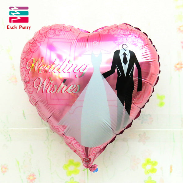 18 Inches Wedding Decorations Heart Bride Groom Aluminium