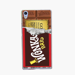 1876-GOP Willy Wonka Bar With Golden Ticket Transparent Hard Case Cover for Huawei P6 P7 P8 P8 lite