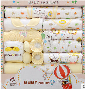 18PCS Gift Set New Style Baby Cotton Clothing Set Newborn Hot Sales Gift Infant Cute Clothes Free Shipping