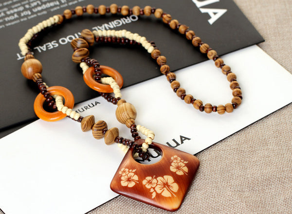 19 Styles Fashion Bohemian Vintage Ethnic Wood Animal Long Handmade bead Necklaces&Pendants for Women Statement Necklace Jewelry