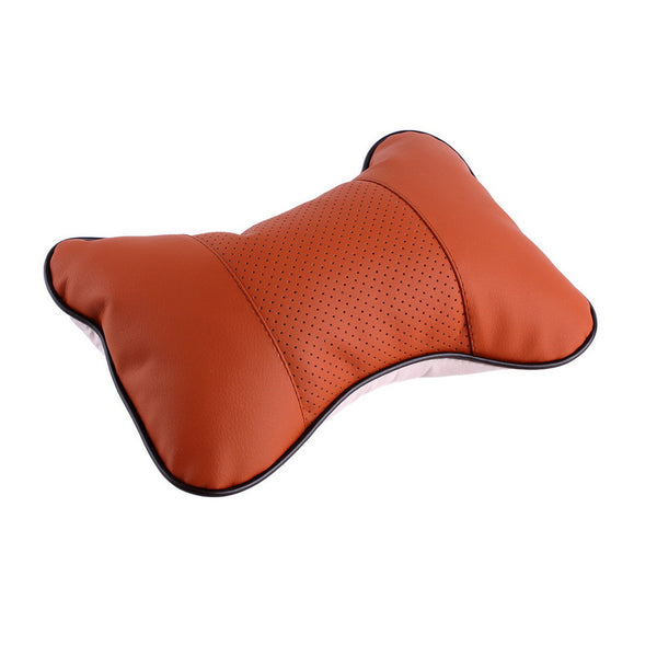 1PC 4 Colors Perforating Design Artificial Leather Hole-digging Car Headrest Supplies Neck Auto Safety Accessories Car Styling