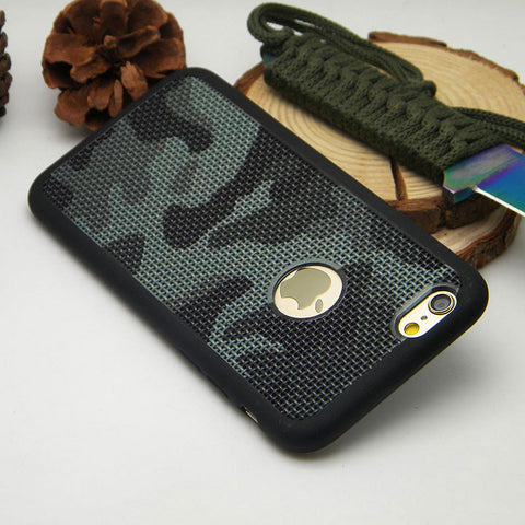 1PC Camouflage case for iPhone 6 6s 7 Plus 4.7 and 5.5 inch silicone TPU Breathable Mesh Radiating soft Skin case cover