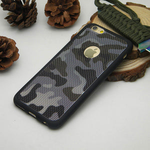 1PC Camouflage case for iPhone 6 6s Plus 7 Plus 4.7 and 5.5 inch silicone TPU Breathable Mesh Radiating soft Skin case cover