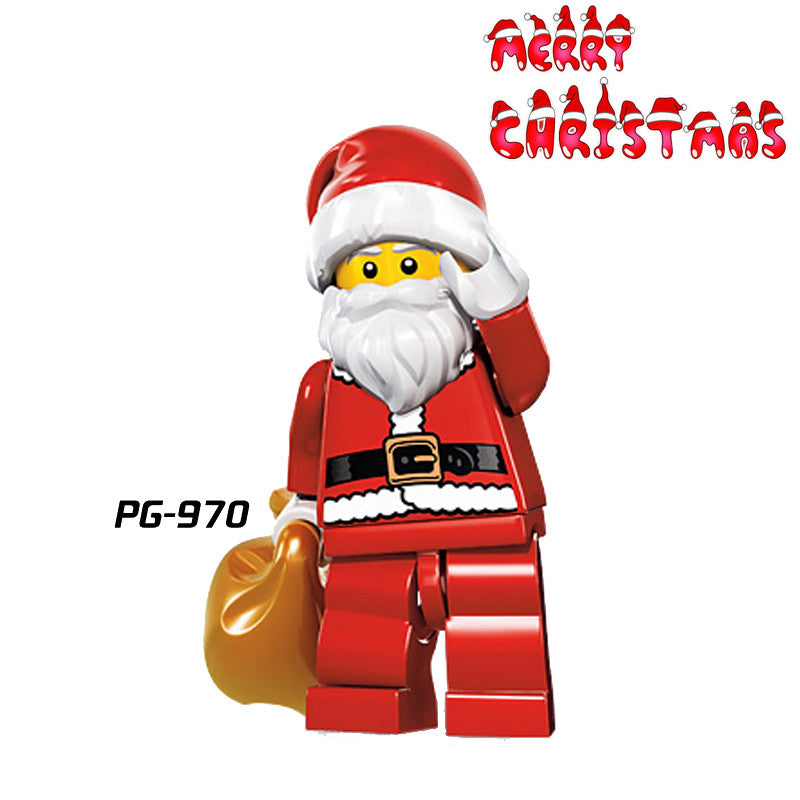 Harley Quinn Christmas.1pc Santa Clause Joker Harley Quinn C 3po Darth Vader Yoda Deadpool Building Blocks Christmas Minifigures Bricks Kids Diy Toys
