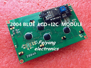 1PCS LCD2004+I2C 2004 20x4 2004A blue screen HD44780 for arduino Character LCD w IIC I2C Serial Interface Adapter Module