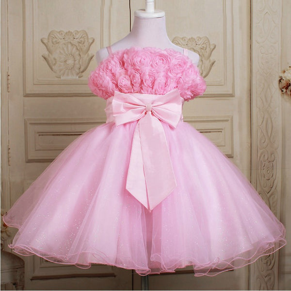 1Pc Retail NEW 2015 Summer Girl Dress Elegant Dress Party Baby Girl Princess Dress Children Clothing Christmas Dress 14 Colors