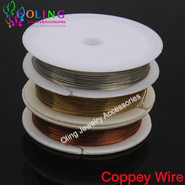 0.5MM 7M Roll Copper Wire plated Silver Golden Copper Beading Findings DIY necklace Bracelet earrings choker jewelry making 2016