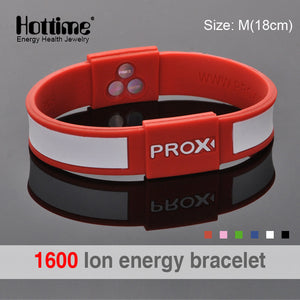 1000 ion Balance Silicone Custom Fitness Sport Bracelet Men With Japan Technology Bio Elements Energy Power Man Bracelets PROX1
