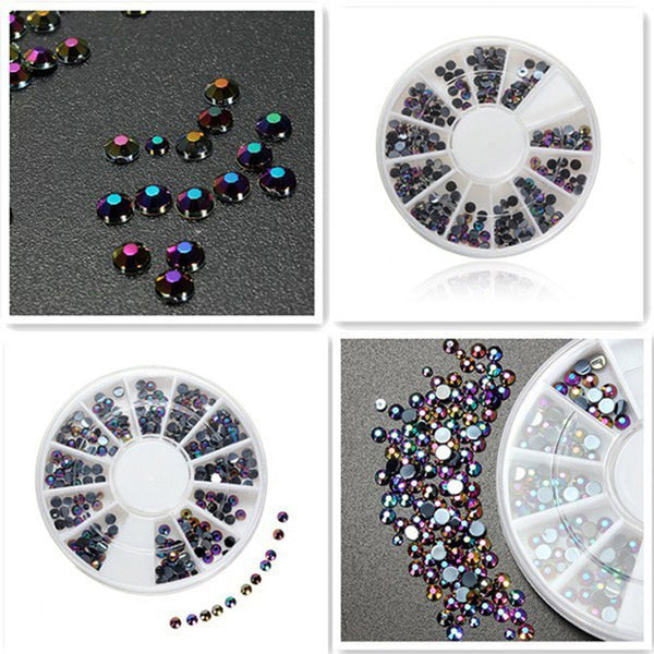 1Bag New Arrive Fashion Nail Art Decoration for Nails Beads Rhinestones 3D DIY Colorful Beads Nail Decoration Caps For Nails