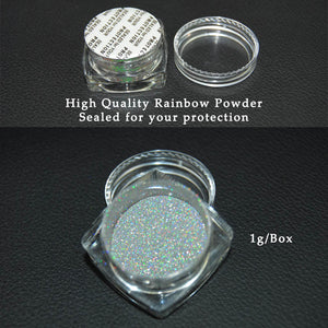 1g Box New 2017 Rainbow Shinning Nail Glitter Powder Holographic Powder Nails Dust Laser Holo nail art decorations Pigment