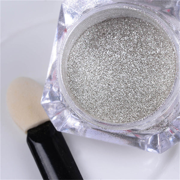 1g Box Bling Mirror Nail Glitter Powder Gold Sliver Nail Art Sequins Chrome Pigment Glitters