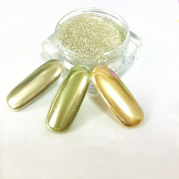 1g Box Born Pretty Gold Silver Mirror Powder Holographic Powder Nail Glitter Powder Nail Art Sequins Chrome Mirror Polish