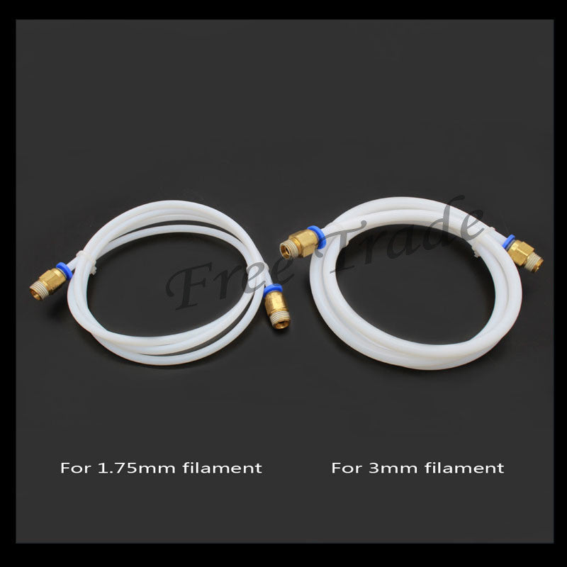 1M 3D Printer PTFE Tube for Long-distance 3D Printer J-head Hotend for 1.75mm 3.0mm Bowden Extruder Free shipping