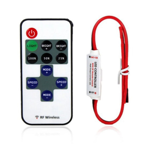 1pc 12V RF Wireless Remote Switch Controller Dimmer for Mini LED Strip Light New