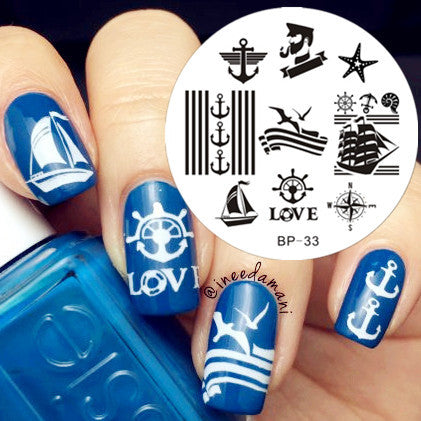1pc 31 Designs Available Born Pretty Stamping Plate Lace Starfish & Shell Negative Space Leaves Flowers Animals Nail Template