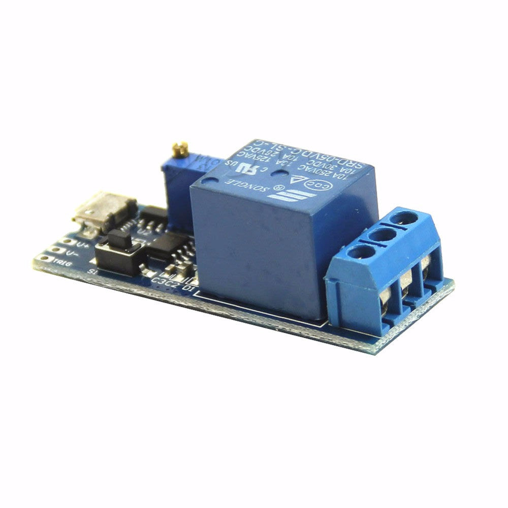1pc 5v 30v Delay Relay Timer Module Trigger Switch Micro Usb Circuit Power Tool Us
