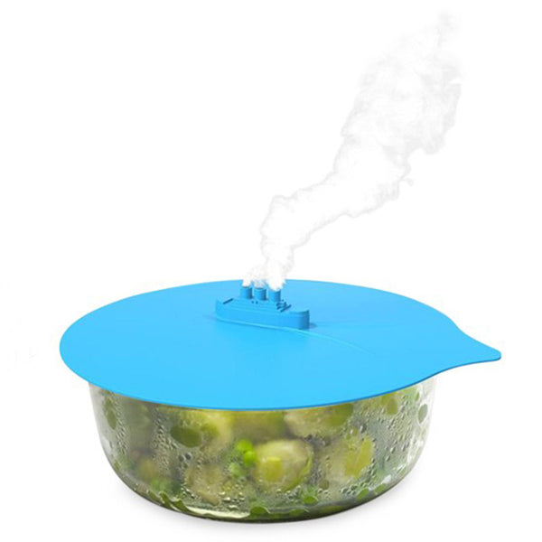 1pc Creative Steam Ship Steaming Lid Universal Silicone Pot Cover Pan Cooking Tool Pan Lid Boil Over Spill Stopper Cover Safe