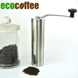 1PC Free Shipping manual coffee grinder Coffee Grinder Mills Coffee Bean Grinder Ceramic Mills Stainless Steel Hand