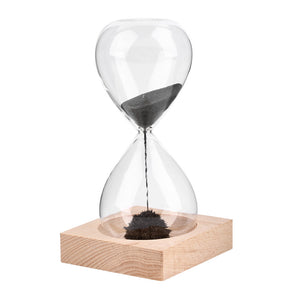 1pc Hand-blown Timer clock Magnet Magnetic Hourglass sand clock hourglass timer Gift Home Decoration