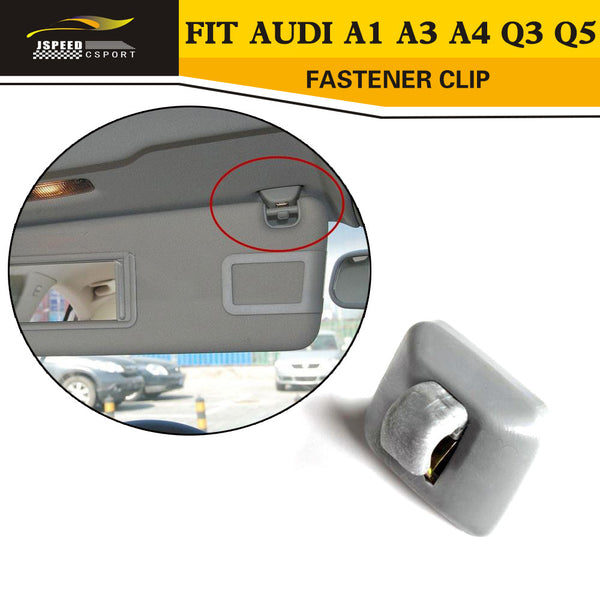 1Pc Inner Sun Visor Hook Clip Bracket Fit for Audi A1 A3 A4 Q3 Q5