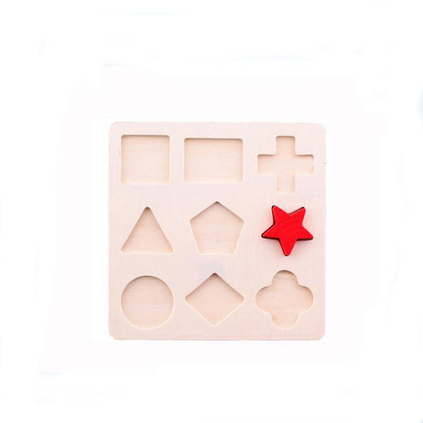 1pc Kids Baby Wooden Toys Early Educational learning education Toys Children's Educational Toys For Infants Wooden Jigsaw Puzzle