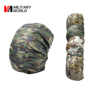 1pc Nylon Camouflage RainCover 30-40L Waterproof Backpack Bag Dust RainCover Travel Kits Hunting Fishing Camping Bags Case Cover