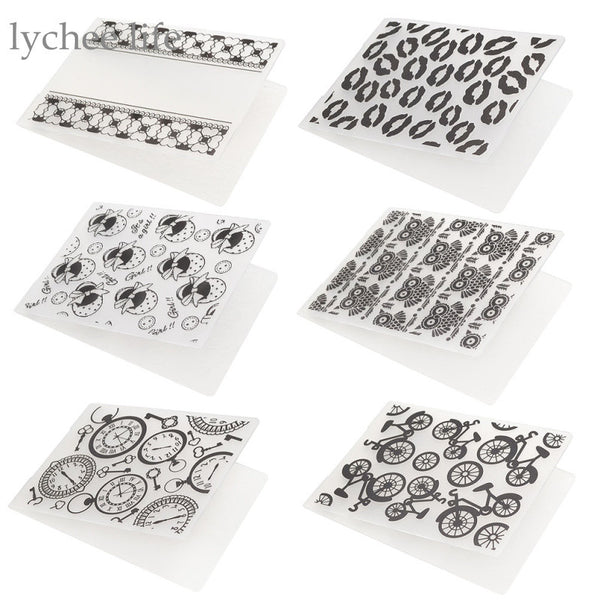1pc Plastic Embossing Folder For Scrapbook DIY Album Card Tool Plastic Template Flower Pattern Home Wall Decoration