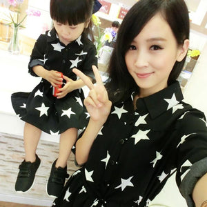 1pc Retail Mother Daughter Dresses Autumn Fashion Matching Family Look Outfit Dresses Clothes Set mere et fille vetements