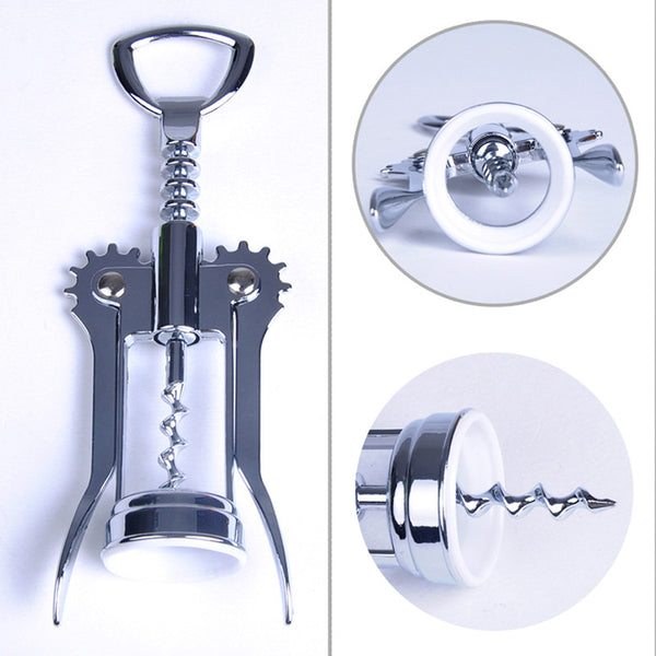 1pc Stainless Steel Red Wine Opener Bottle Opener Waiter Metal Wine Corkscrew Bottle Handle Opener Corkscrews 160*55*30mm