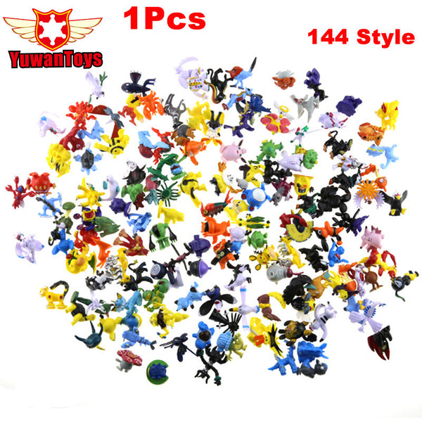1Pcs 144 Style 2-3CM Pokeball Toys Mix Style New Cute Cartoon Monster Mini Figure Toys Charizard Action Figure Pikachu Kids Toys