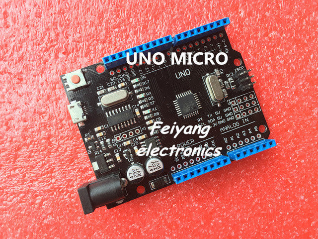 1pcs New 2016 - UNO R3 ATmega328P CH340G MicroUSB. Compatible for Arduino UNO Rev 3.0 (hei)