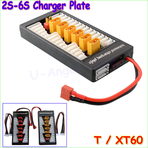 1pcs High Quality 2S-6S Lipo Battery Parallel Charging Board Charger Plate T Plug XT60 Plug for Imax B6 B6AC B8 6 in 1
