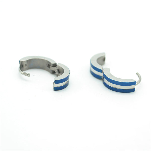 1PCS High Quality Blue 316L Statinless Steel Earring Fashion Ear Stud Fake Ear Expander Men's Ear Ring Free Shipping