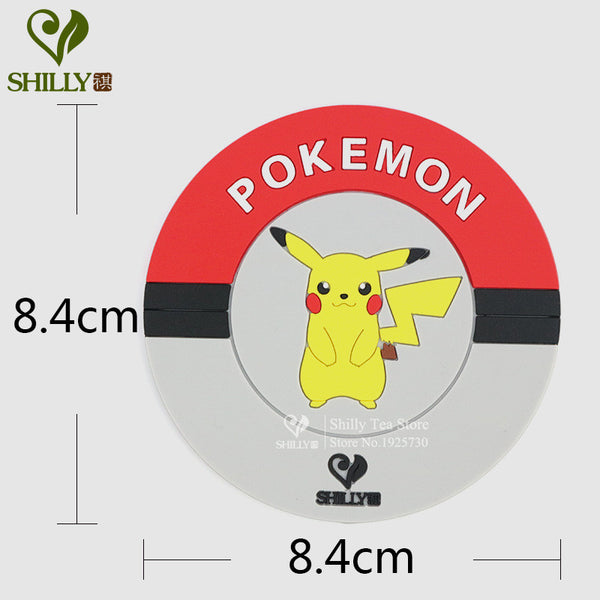 1pcs Pikachu Cartoon Cup Coaster Pokemon Go silicone dining table placemats coaster accessories placemats coaster mats & pads