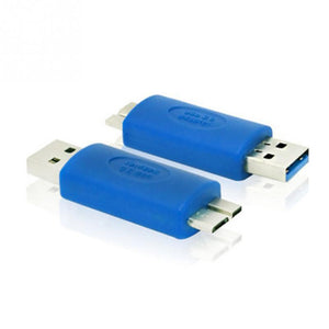 1Pcs Plastic+Copper USB 3.0 A Male to Micro B Adapter USB3.0 AM to Micro B Connector Extender Converter