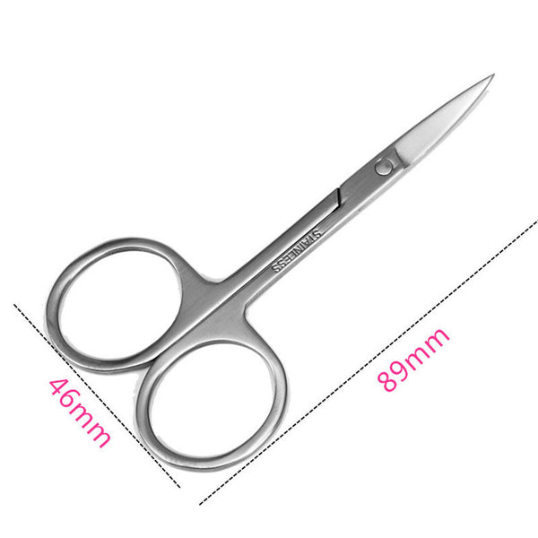1Pcs Professional Manicure Scissor For Nails Cuticle Scissors Curved Pedicure Makeup Tools Stainless Steel Dead Skin Remover