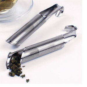 1PCS Stainless Steel Pipe Design Strainer Amazing Tea Infuser Touch Feel Good Tea Tool Free shipping