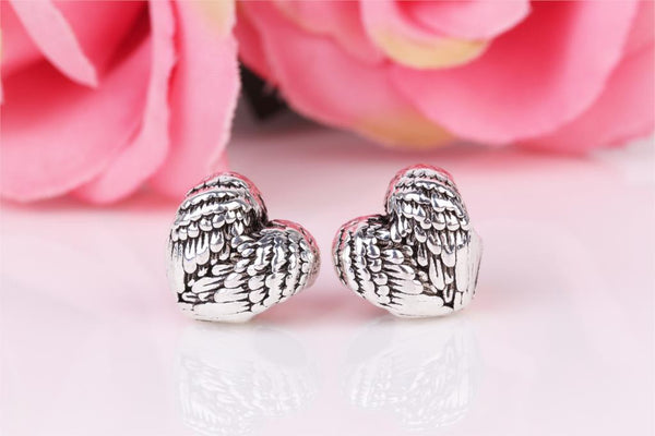 1piece Silver Feathers Wings Bead DIY big hole European Beads Fits Charm pandora Bracelets necklaces pendants