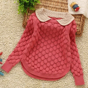 2-6Y girls computer knitted spring-autumn sweaters 100-140cm girls knitwear jersey children clothing girls coat
