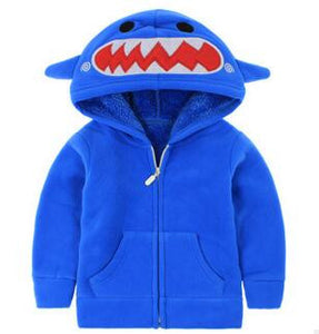 2-8 Years Old Baby Boys Winter Jacket 2016 New Fashion Cartoon Thick Fleece Hooded Boys Outerwear Warm Coat