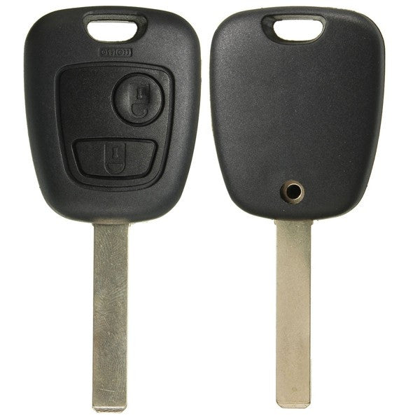 2 Button Remote Key Fob Case Shell & Uncut Blade Full Repair Kit For Toyota Aygo