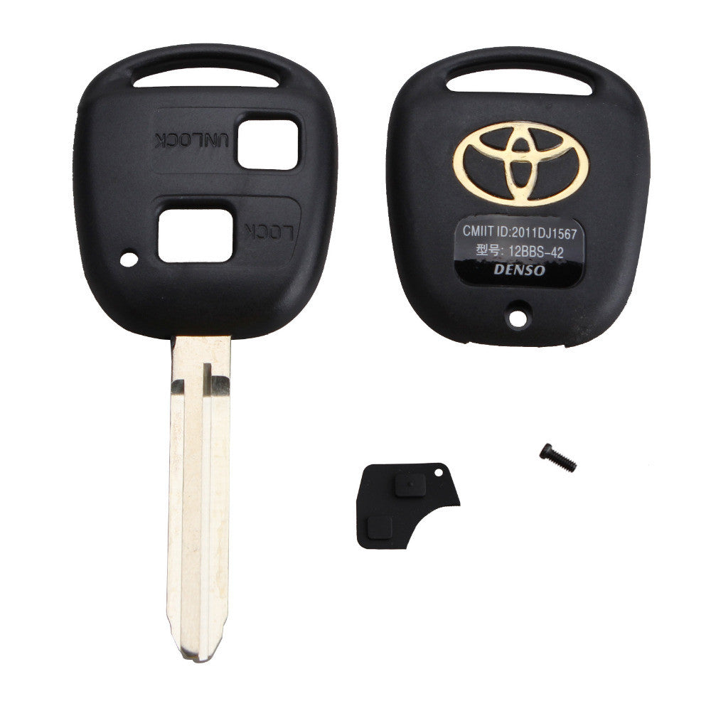 2 Buttons Car Remote Key Shell Case Replacement For Toyota Corolla RAV4  Prado Yaris Camry + Button Pad