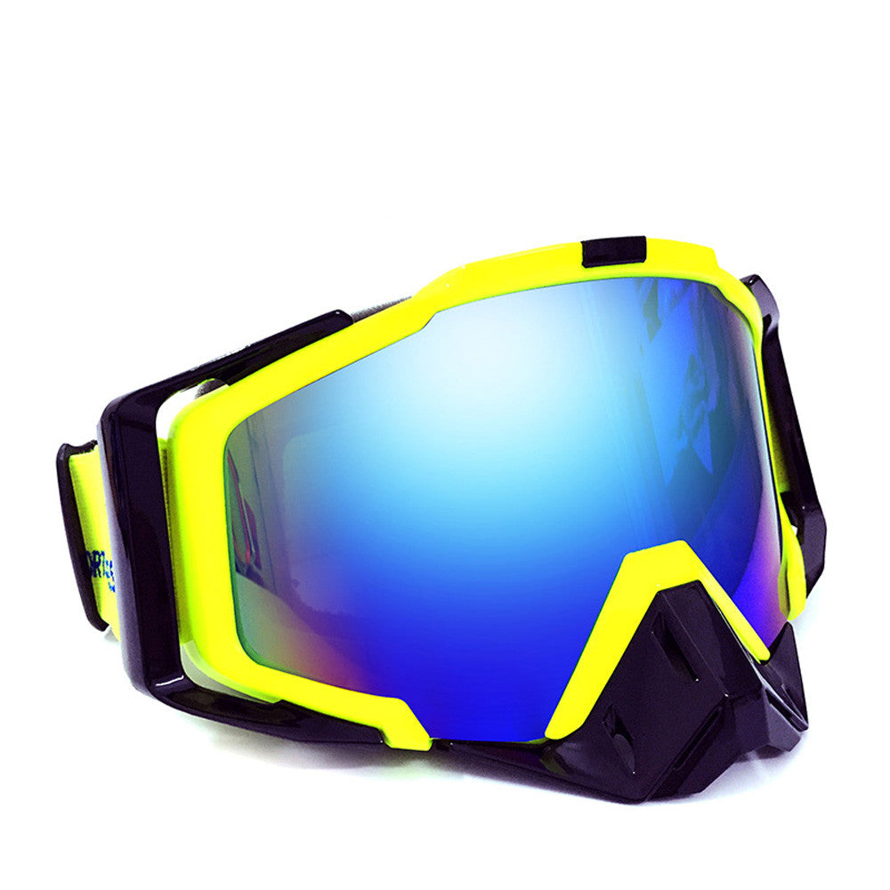 2-in-1 Ski Sunglasses with Detachable Nose Piece Protection Motor Cycle Goggles UV400 Anti-Scratch Wear Over Rx Glasses