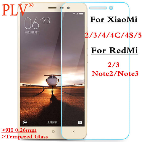 2.5D 0.3mm 9H Premium Tempered Glass for Xiaomi Redmi 2 3 Redmi Note 2 Note3 for Xiaomi 2 3 4 4C 4S 5 Phone Screen Protector