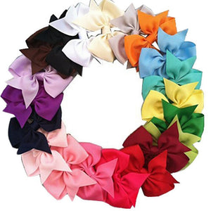 20 Pcs Baby Girls Kid Hair Bows Band Boutique Alligator Clip Grosgrain Ribbon #2068