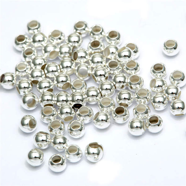 200pcs Lot Round Gold Silver Spacer Beads 3mm for Jewelry Making Bracelet Necklace